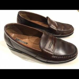 Florsheim Penny Loafers Men's 9.5 Burgundy Leather